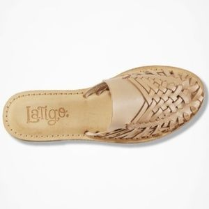 Latigo Anthropologie Hibiscus Mule Sandals 8.5